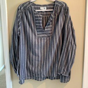 NWOT Old Navy Blue And White Striped Tunic Shirt-S
